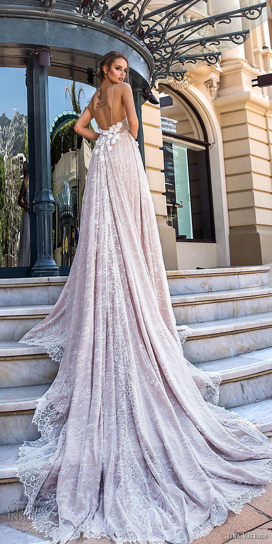 tina valerdi 2019 bridal spaghetti strap sweetheart neckline full embellishment romantic blush modified a line wedding dress open back chapel train (15) bv