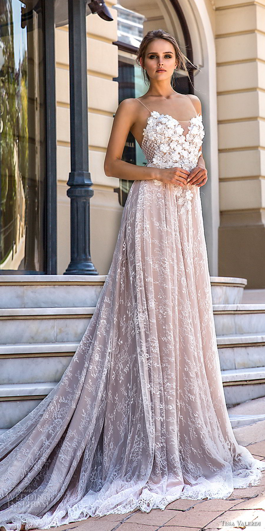 tina valerdi 2019 bridal spaghetti strap sweetheart neckline full embellishment romantic blush modified a line wedding dress open back chapel train (15) mv