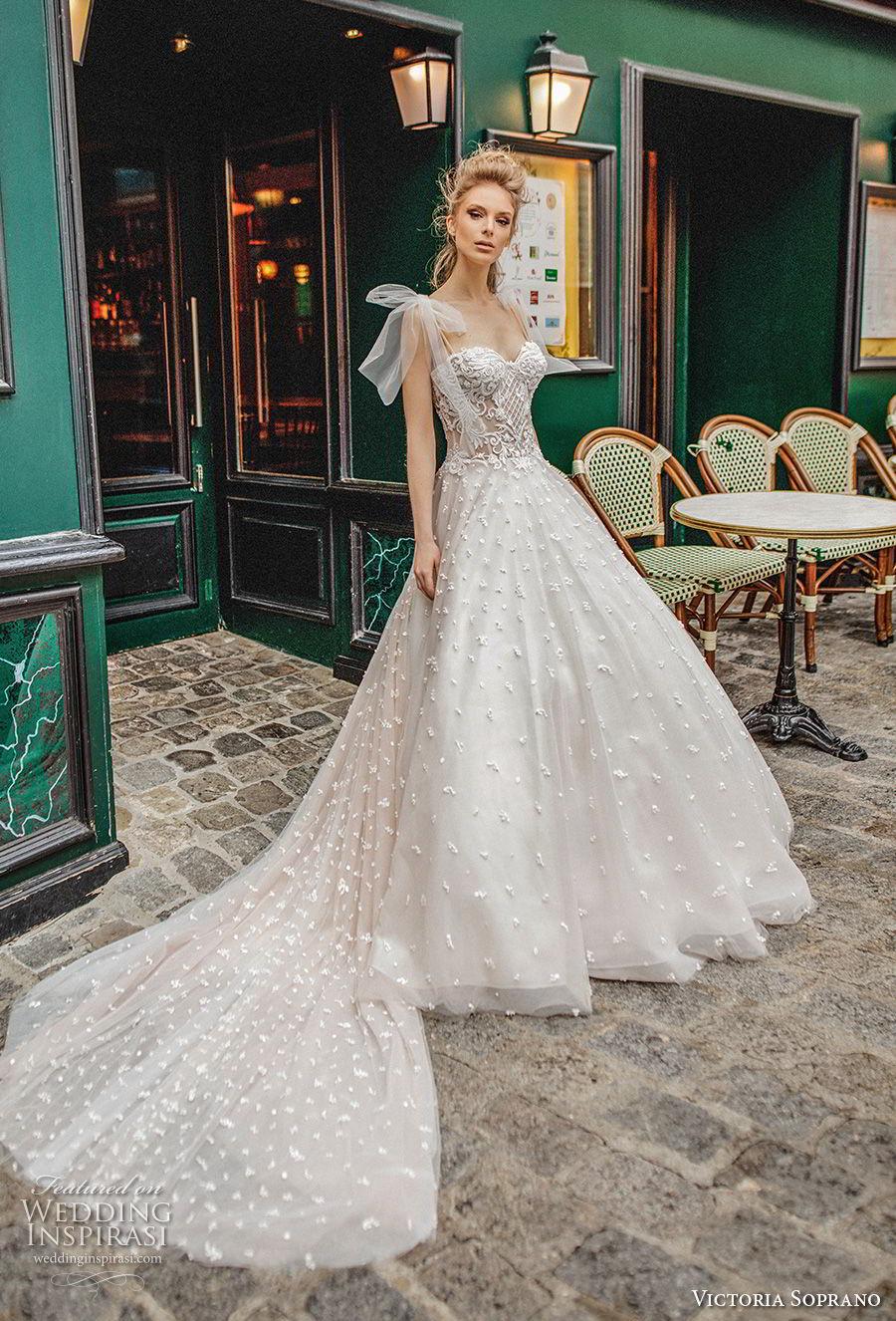 victoria soprano 2019 bridal detachable ribbon straps sweetheart neckline full embellishment romantic a  line wedding dress chapel train (8) mv