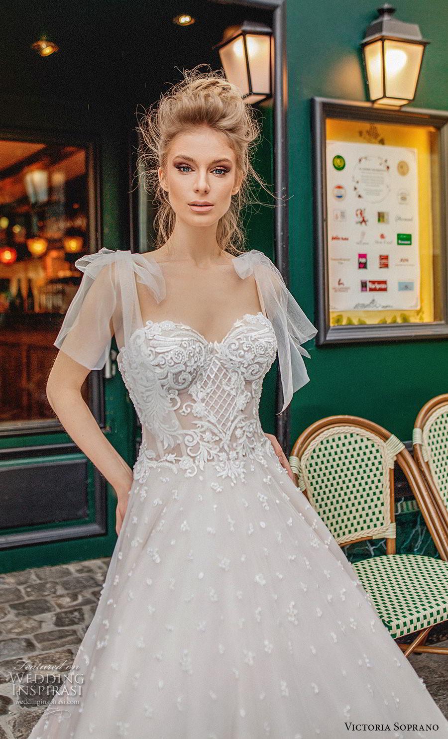 victoria soprano 2019 bridal detachable ribbon straps sweetheart neckline full embellishment romantic a  line wedding dress chapel train (8) zv