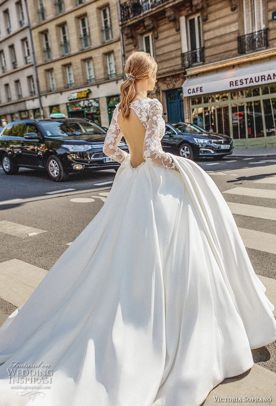 victoria soprano 2019 bridal long sleeves bateau neck heavily embellished bodice princess ball gown a  line wedding dress keyhole back chapel train (14) bv