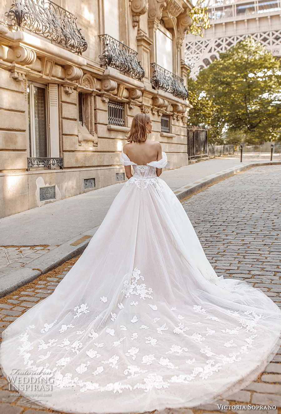 victoria soprano 2019 bridal off the shoulder sweetheart neckline heavily embellished bodice romantic princess a  line ball gown weddding dress royal train (1) bv