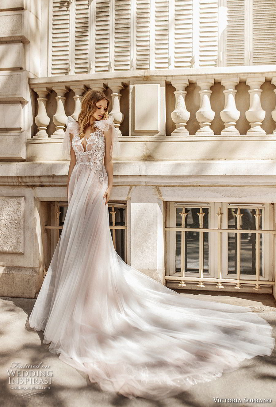 victoria soprano 2019 bridal sleeveless ribbon straps v neck heavily embellished bodice romantic soft a  line wedding dress keyhole back chapel train (16) mv