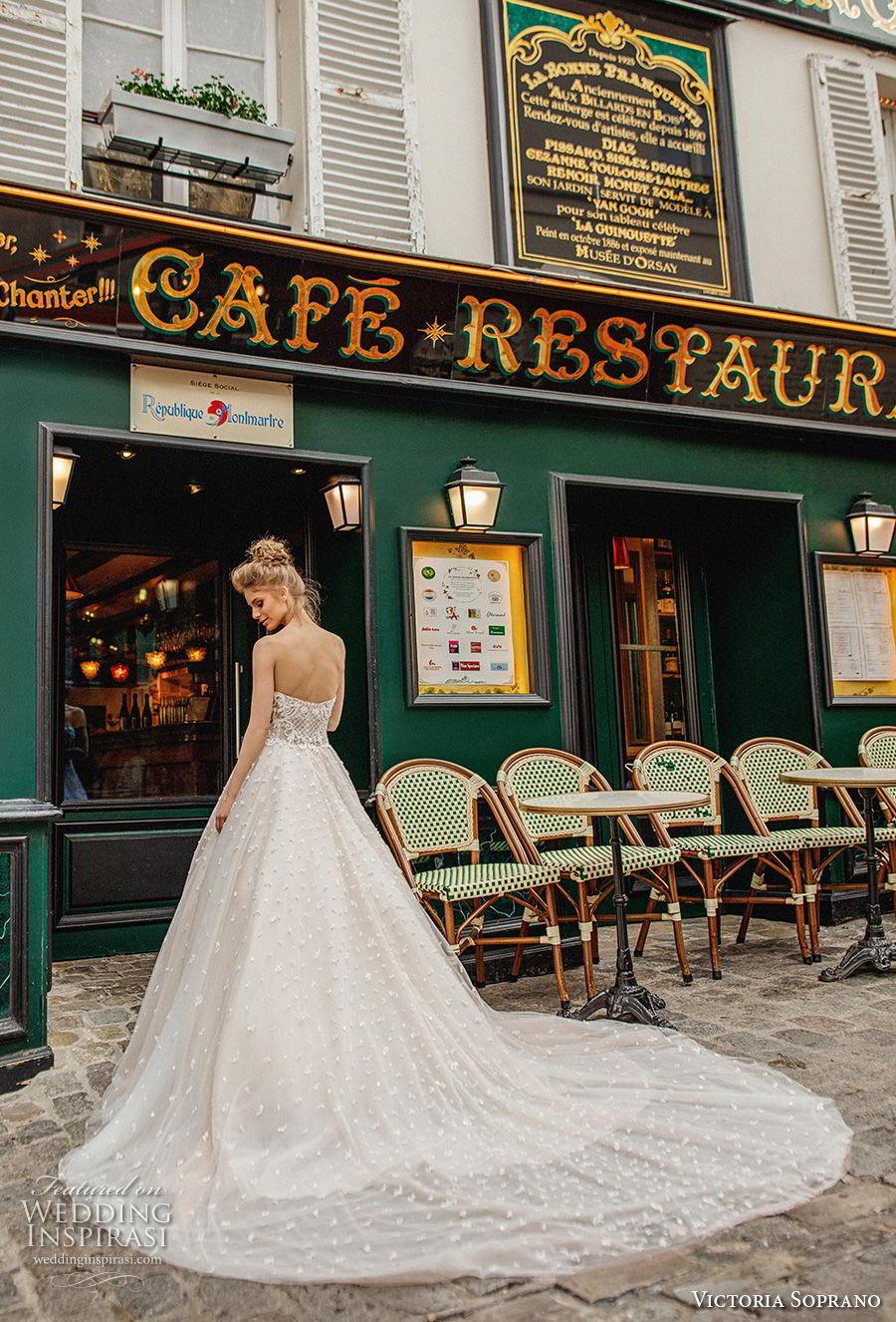 victoria soprano 2019 bridal strapless sweetheart neckline full embellishment romantic a  line wedding dress chapel train (8) bv