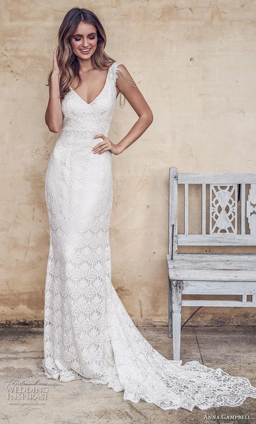 anna campbell 2019 bridal sleeveless v neck full embellishment elegant fit and flare sheath wedding dress open v back chapel train (11) mv
