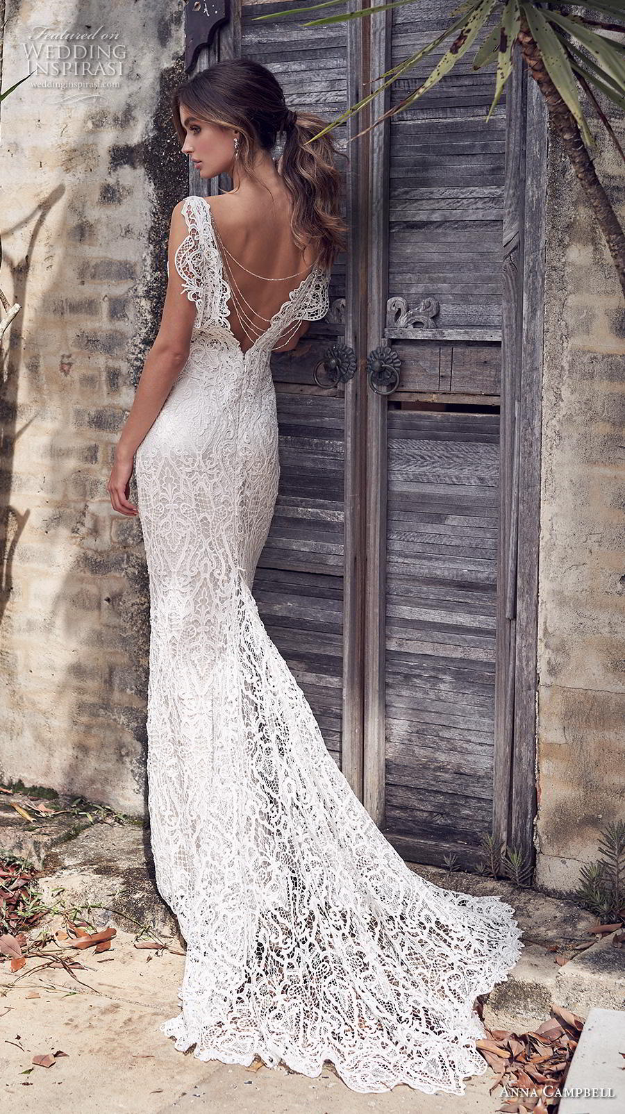 anna campbell 2019 bridal sleeveless v neck full embellishment elegant fit and flare wedding dress backless v back chapel train (7) bv