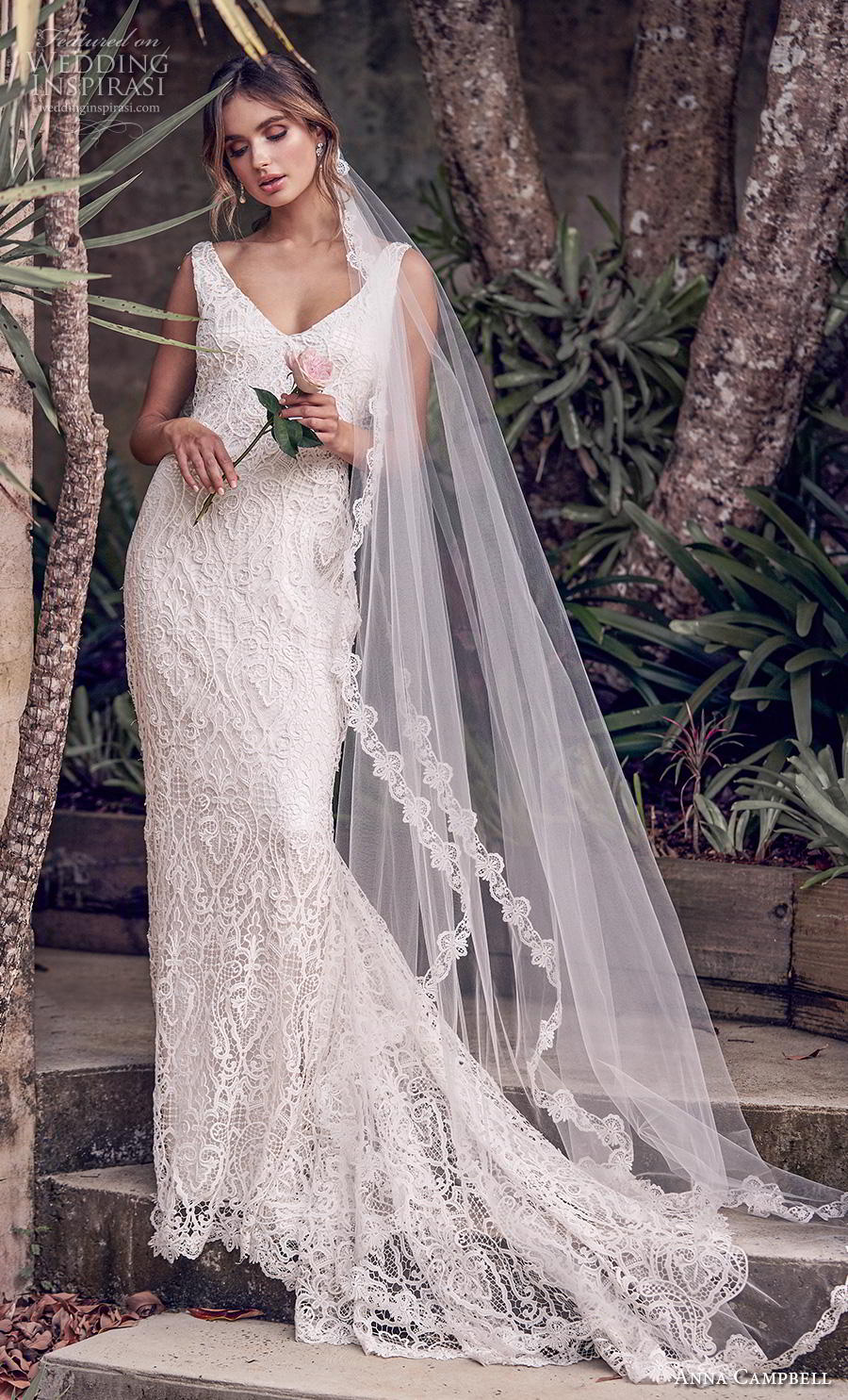anna campbell 2019 bridal sleeveless v neck full embellishment elegant fit and flare wedding dress backless v back chapel train (7) mv