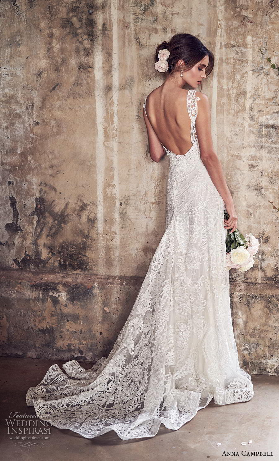 anna campbell 2019 bridal sleeveless v neck full embellishment elegant romantic a line wedding dress backless medium train (14) bv