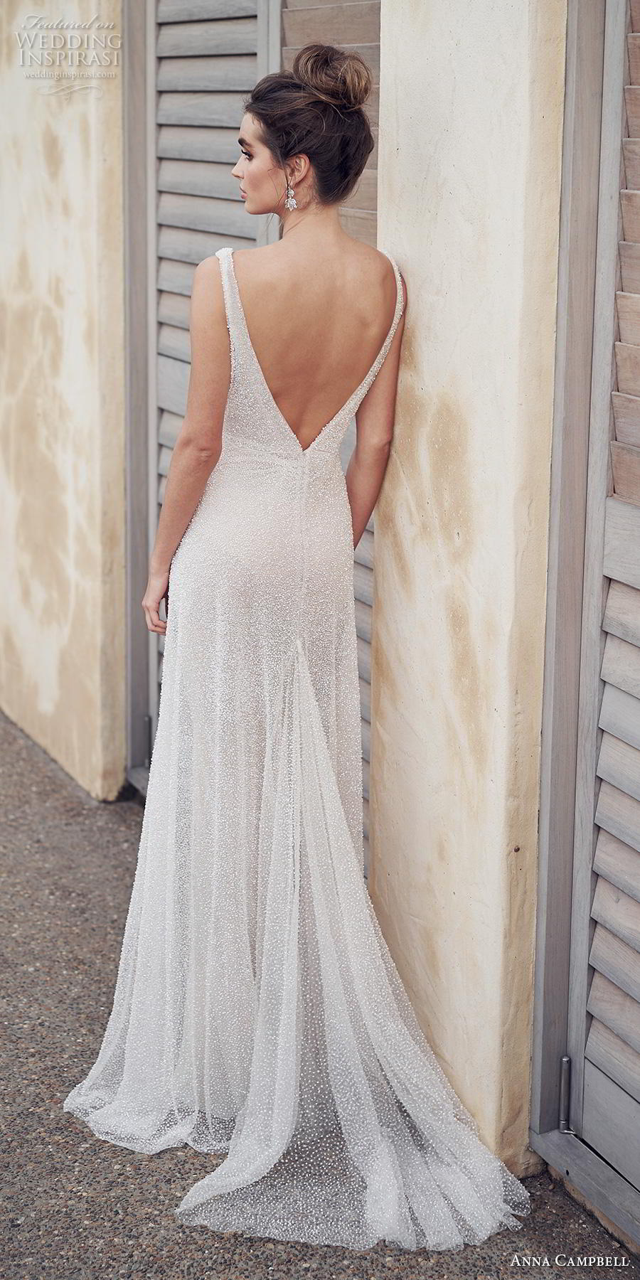 anna campbell 2019 bridal sleeveless v neck full embellishment gltizy simple elegant modified a line wedding dress backless v back sweep train (10) bv
