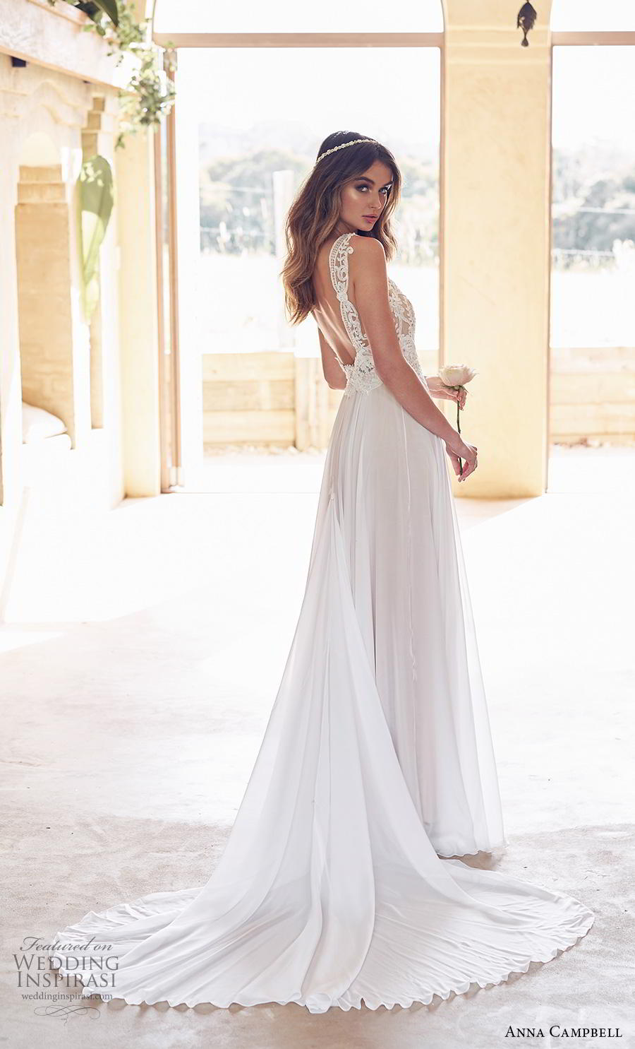 anna campbell 2019 bridal sleeveless with strap v neck heavily embellished bodice romantic soft a line wedding dress backless scoop back chapel train (15) bv