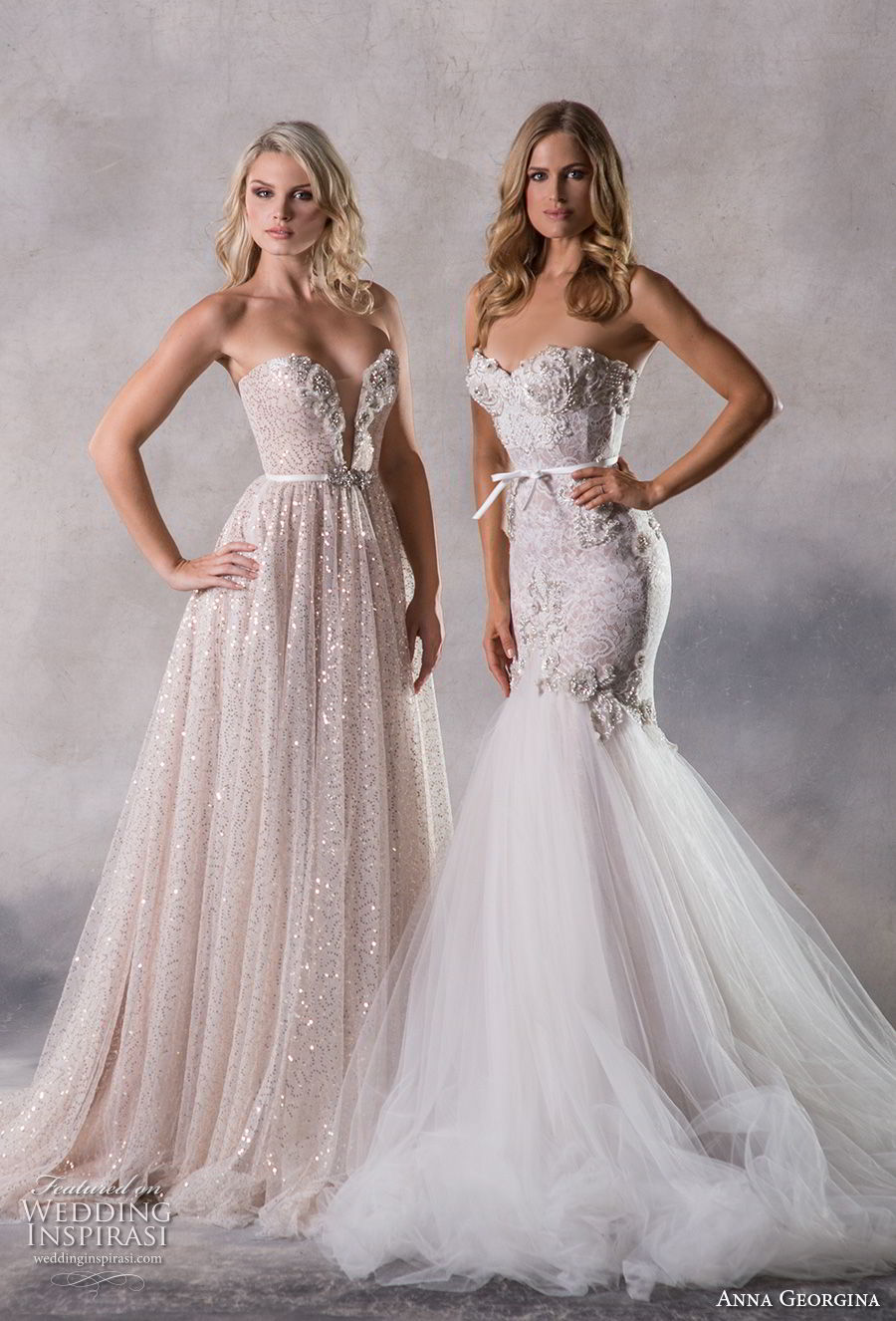 6564184634951 anna georgina 2019 couture strapless sweetheart neckline full embellishment  glitzy romantic blush a line wedding dress