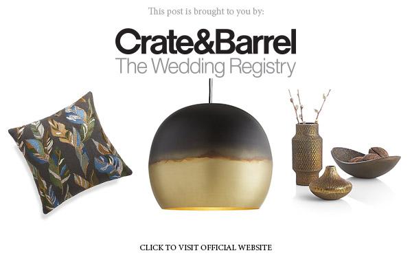 crate and barrel the wedding registry banner below