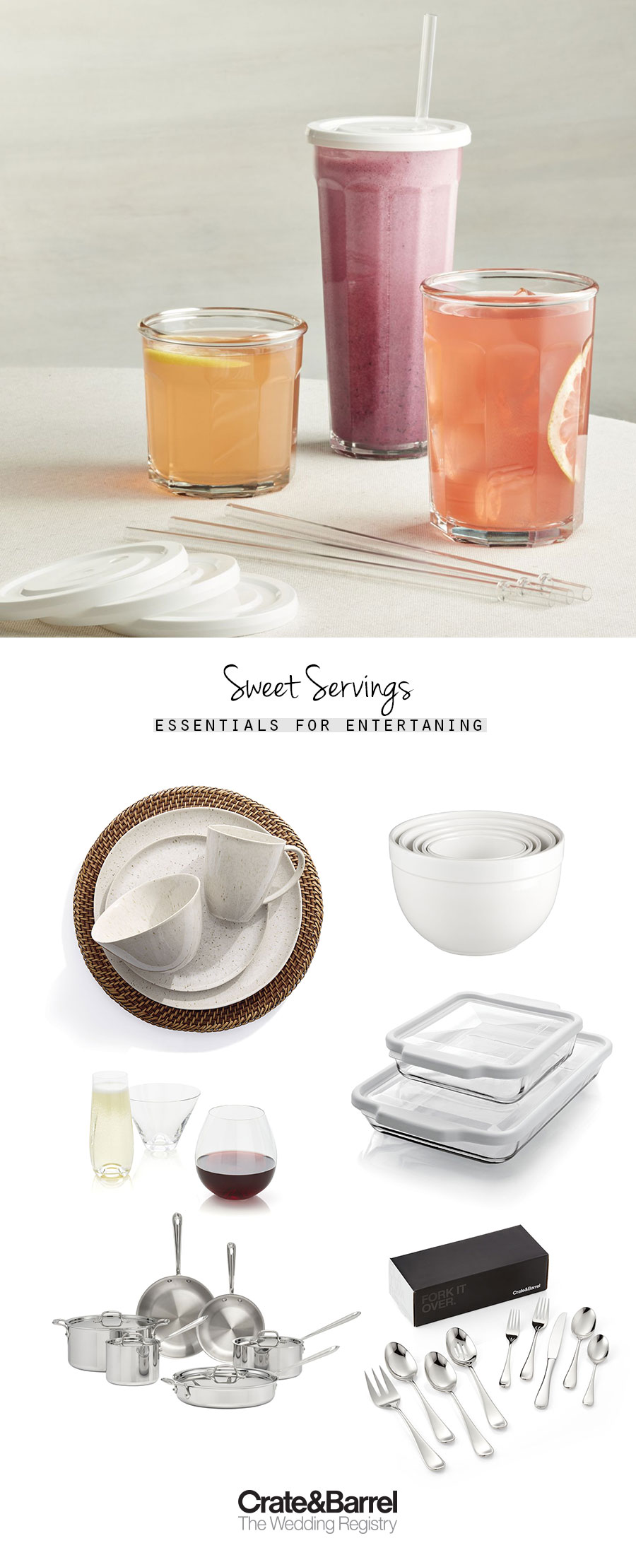 crate and barrel the wedding registry essentials for entertaining