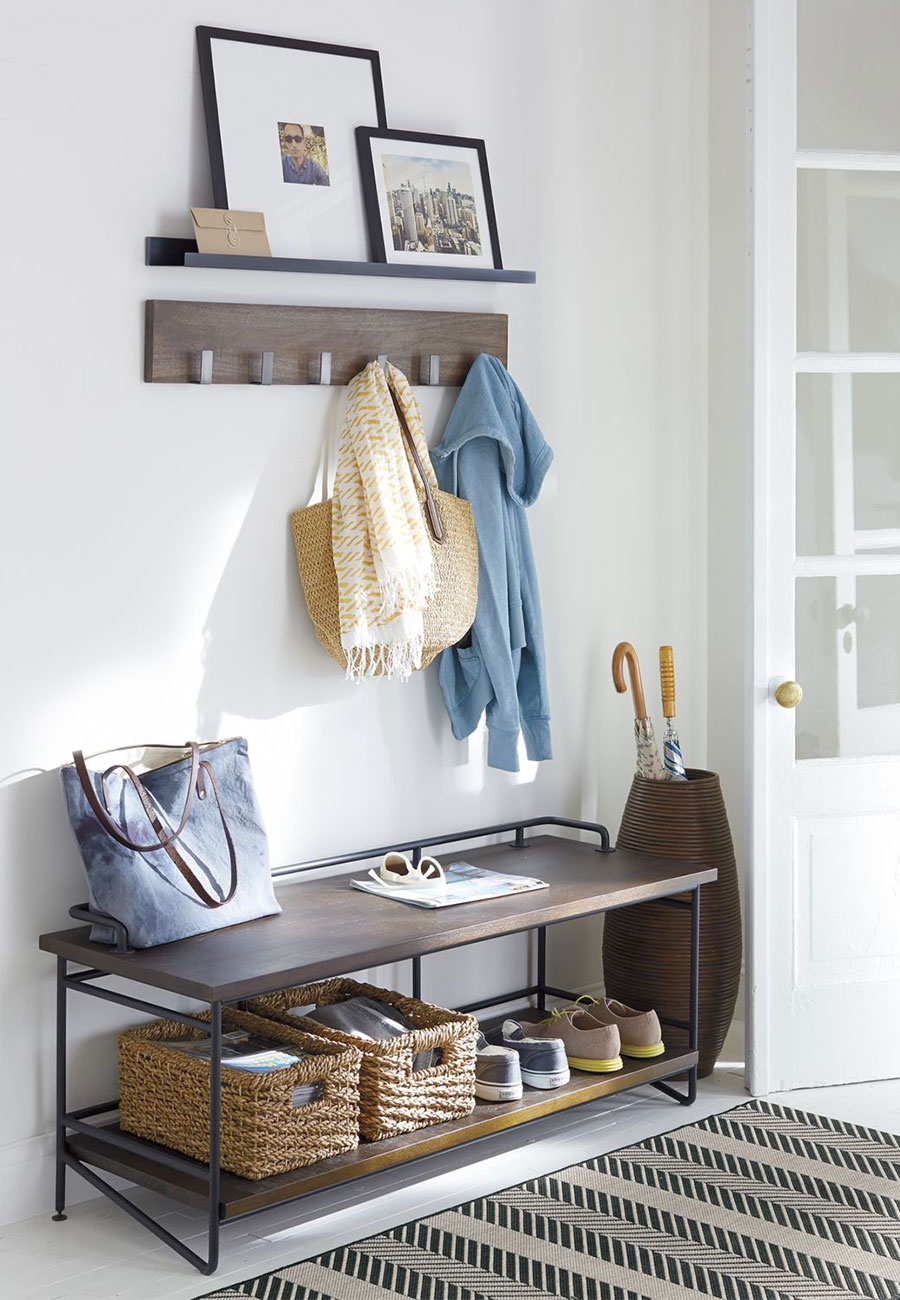 crate and barrel the wedding registry small space entertaining leigh wall mounted coat rack