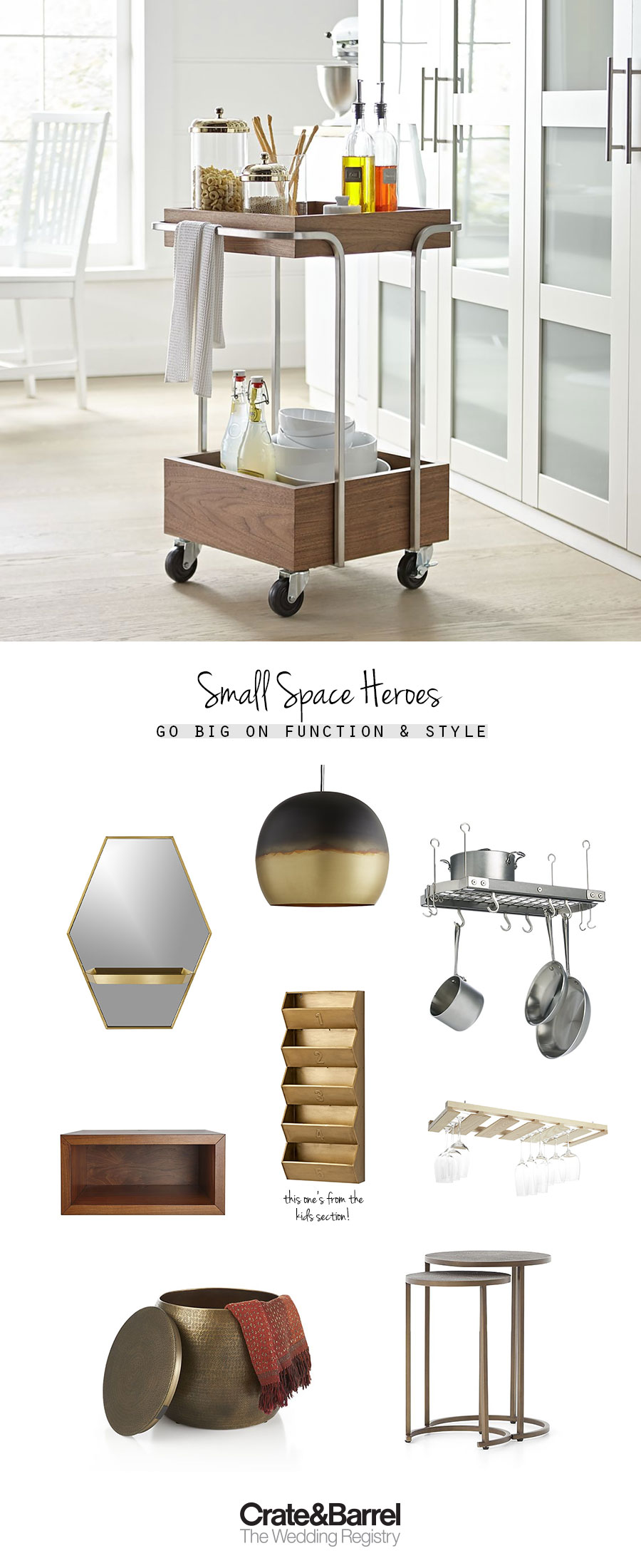 crate and barrel the wedding registry small space storage clever dual use home items