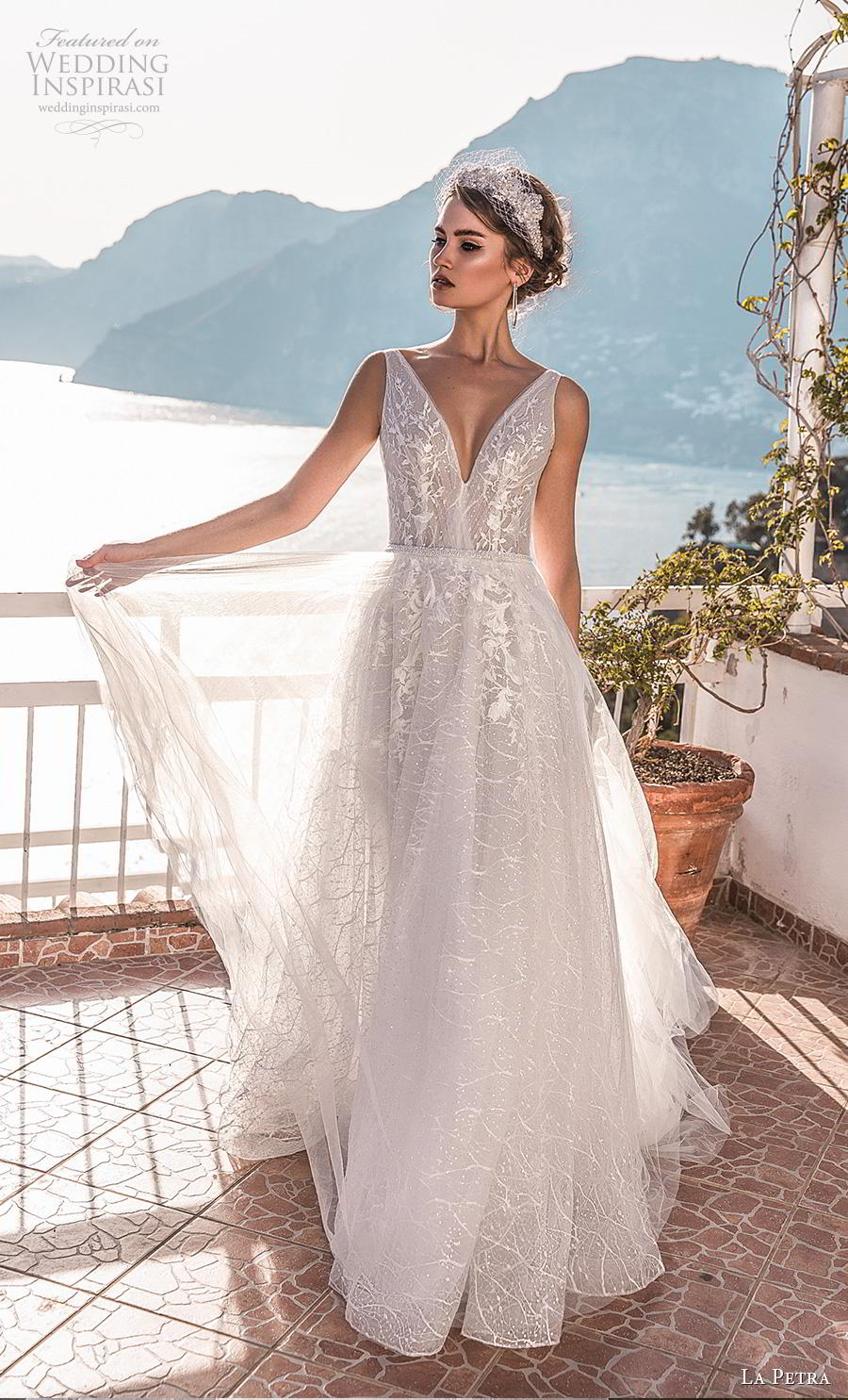 la petra 2019 bridal sleeveless deep v neck heavily embellished bodice romantic a  line wedding dress backless v back chapel train (13) mv