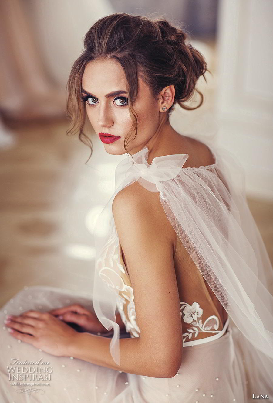 lana 2018 bridal sleeveless ribbon strap deep v neck heavily embellished bodice tulle skirt romantic champagne soft a  line wedding dress backless v back chapel train (6) zbv
