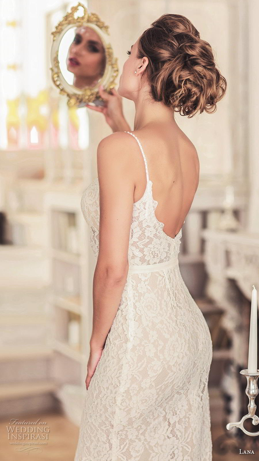 lana 2018 bridal spaghetti strap sweetheart neckline full embellishment slit skirt elegant romantic sheath wedding dress a  line overskirt open scoop back chapel train (10) bv