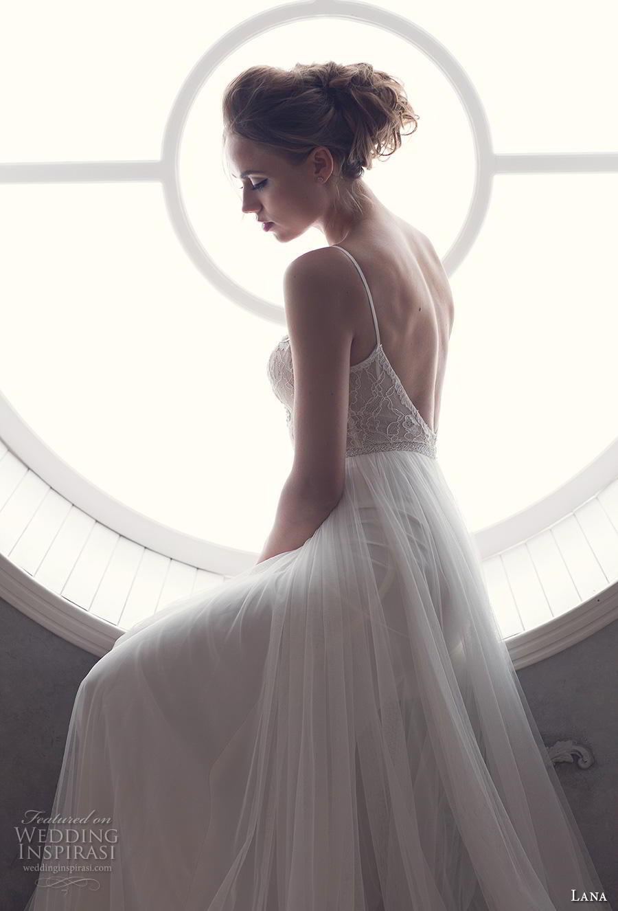lana 2018 bridal spaghetti strap sweetheart neckline heavily embellished bodice tulle skirt romantic soft a  line wedding dress backless open back (1) bv