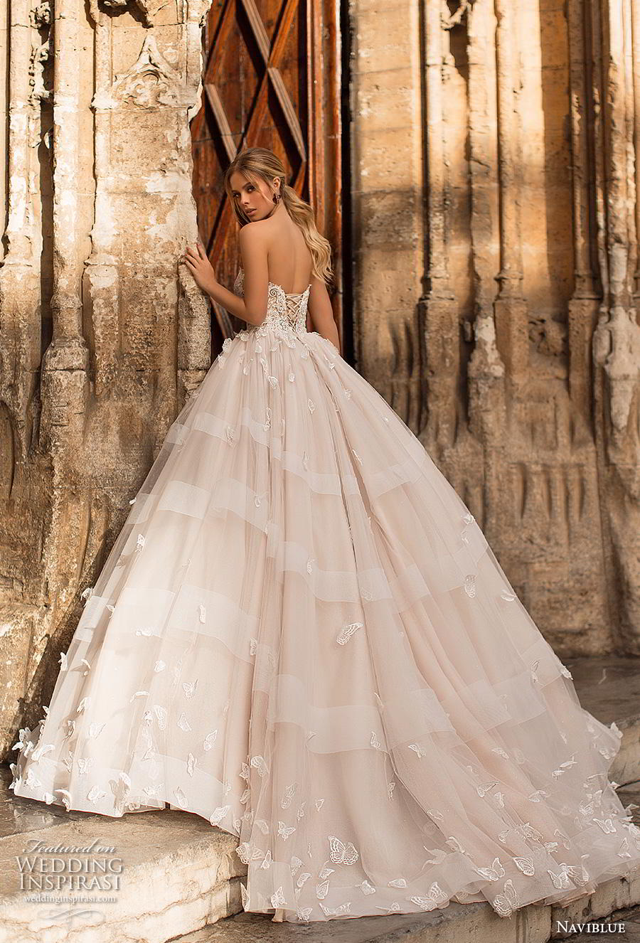 bdfa40d73d3 naviblue 2019 bridal strapless sweetheart neckline heavily embellished  bodice princess ball gown a line wedding dress
