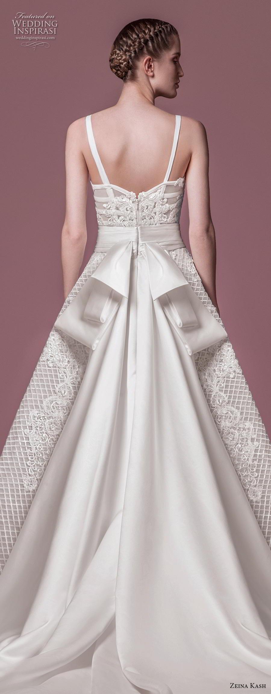 zeina kash 2018 bridal thin strap sweetheart neckline sweetheart neckline full embellishment bustier romantic a  line wedding dress chapel train (1) zbv