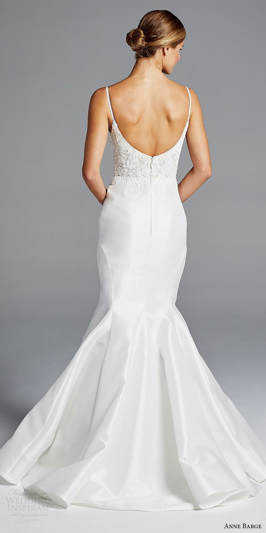 anne barge bridal spring 2019 sleeveless straps sweetheart lace bodice mermaid wedding dress (iman) bv scoop back modern elegant
