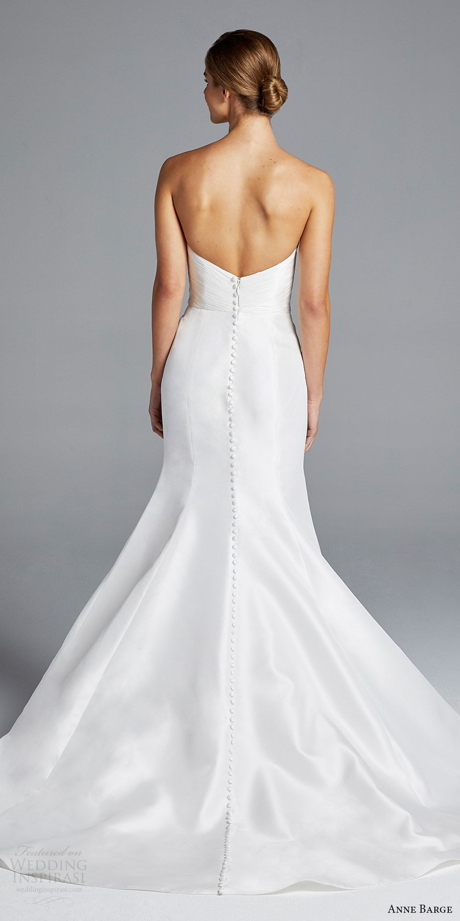 anne barge bridal spring 2019 strapless sweetheart ruched bodice mermaid wedding dress (amal) bv romantic elegant