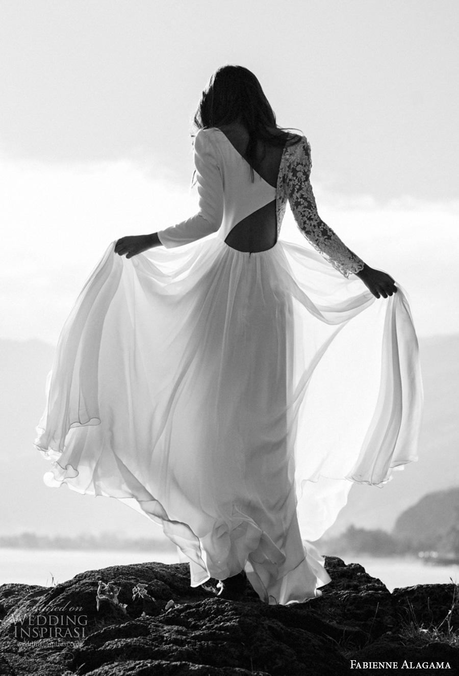 fabienne alagama 2019 bridal asymmetrical sleeves modern soft a  line wedding dress (9) bv mv