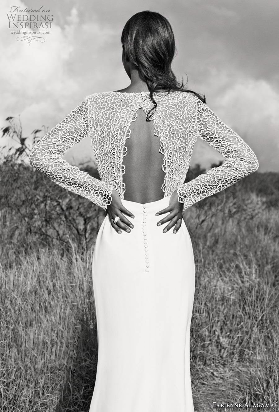 fabienne alagama 2019 bridal long sleeves bateau neck heavily embellished bodice slit skirt modern elegant sheath wedding dress keyhole back (3) bv