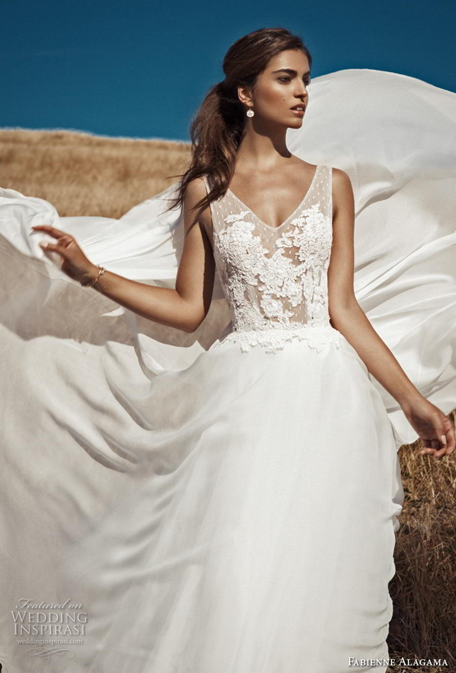 fabienne alagama 2019 bridal sleeveless v neck heavily embellished bodice romantic a  line weddng dress backless v back (4) mv