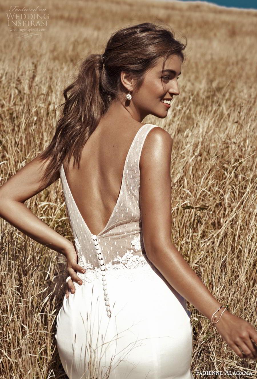 fabienne alagama 2019 bridal sleeveless v neck heavily embellished bodice romantic a  line weddng dress backless v back (4) zbv
