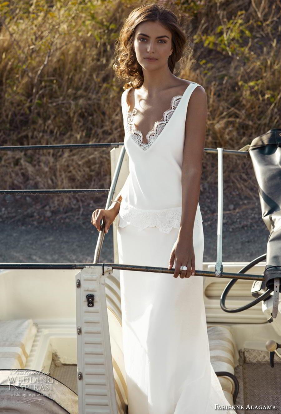 fabienne alagama 2019 bridal sleeveless with strap scallop v neck simple vintage minimalist column wedding dress backless v back (8) mv