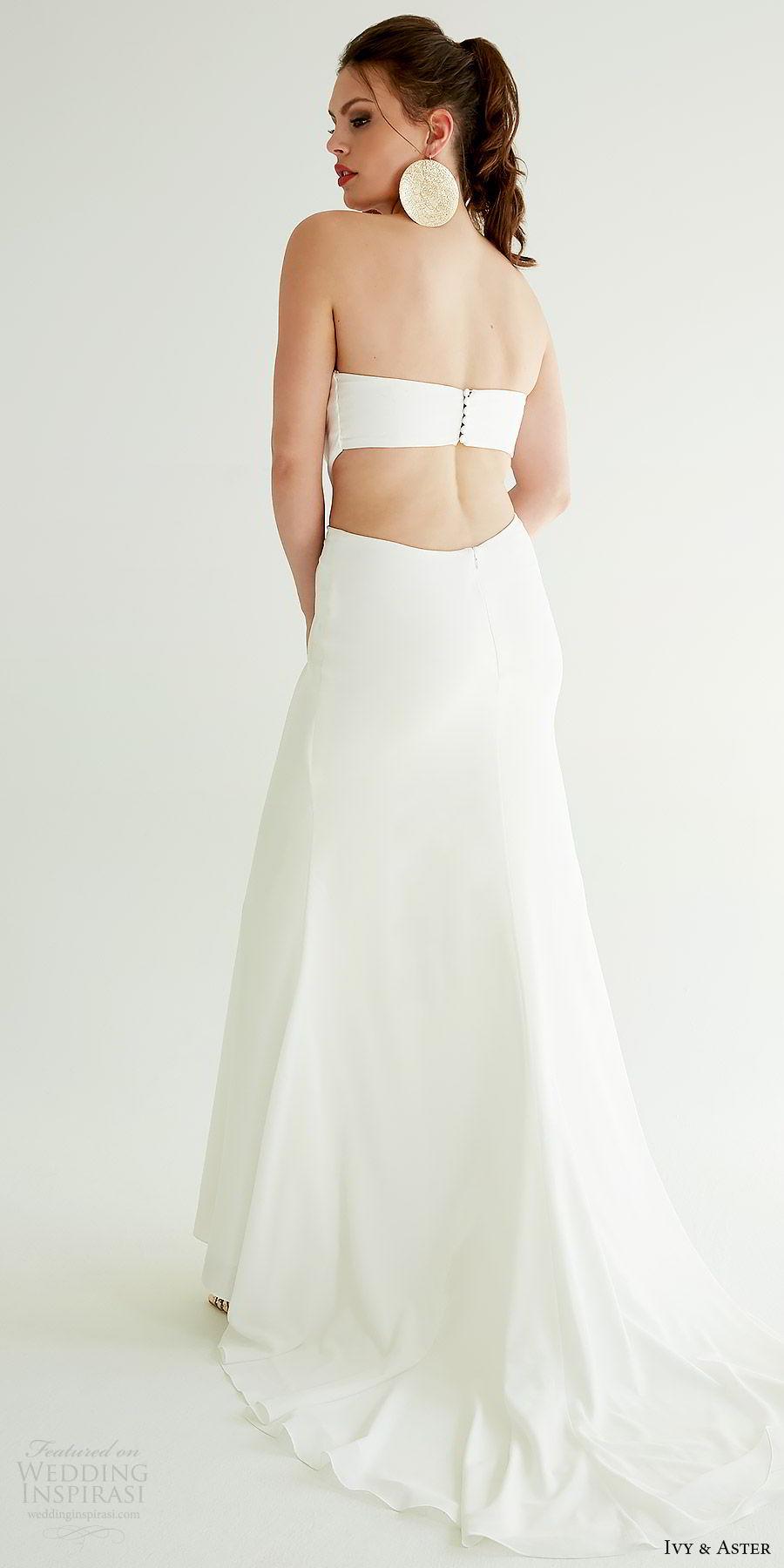 ivy aster bridal 2019 strapless straight across criss cross bodice side cutout a lineskirt wedding dress (hailee) bv clean modern chic