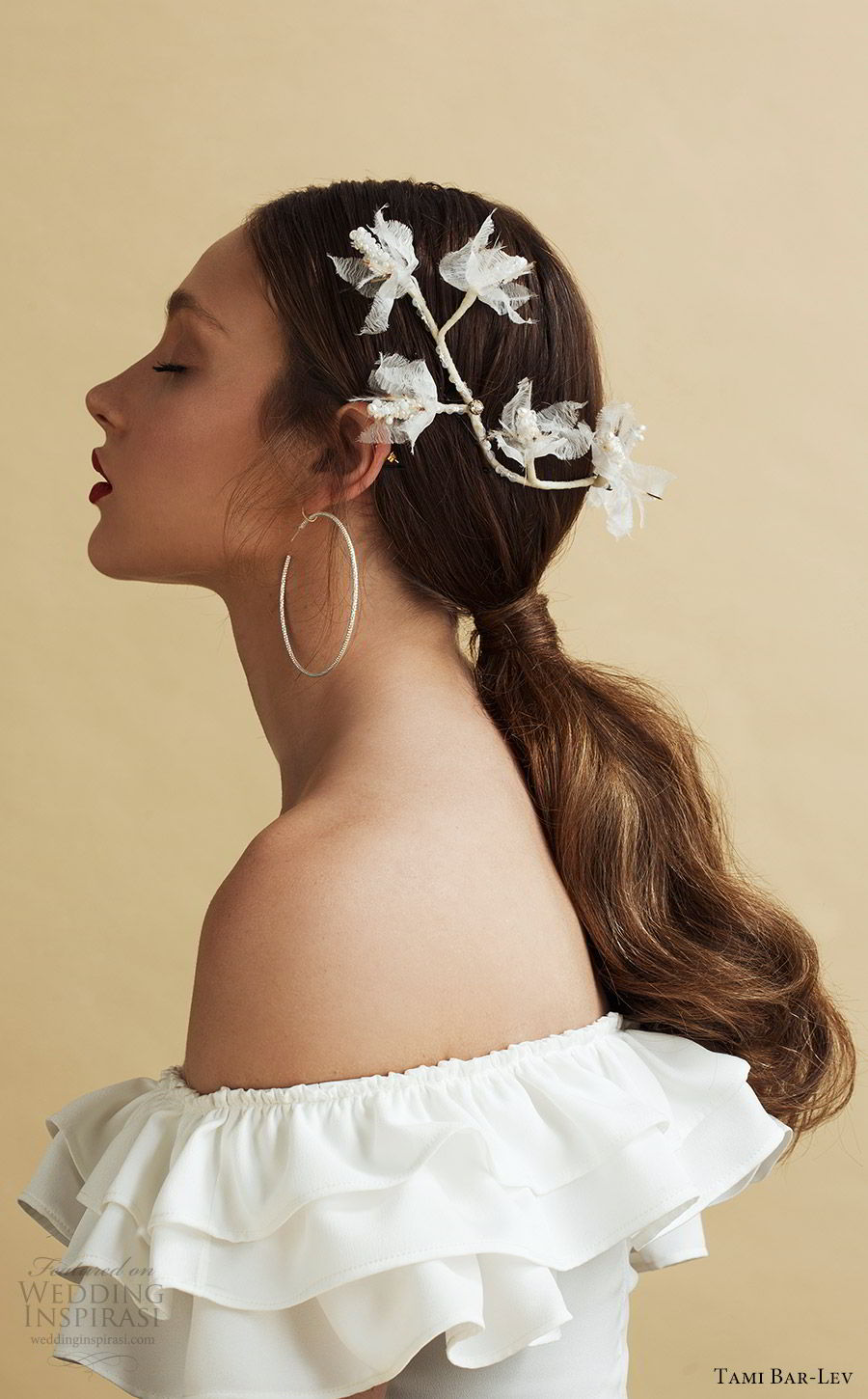 tami bar lev headpiece 2019 bridal hair accessories flirty flowers back piece hair accessory