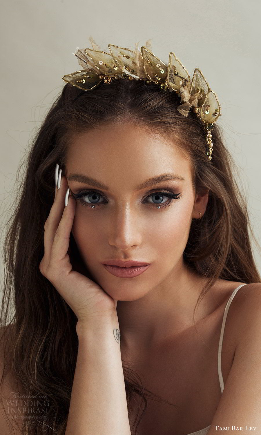 tami bar lev headpiece 2019 bridal hair accessories prickly half tiara gold
