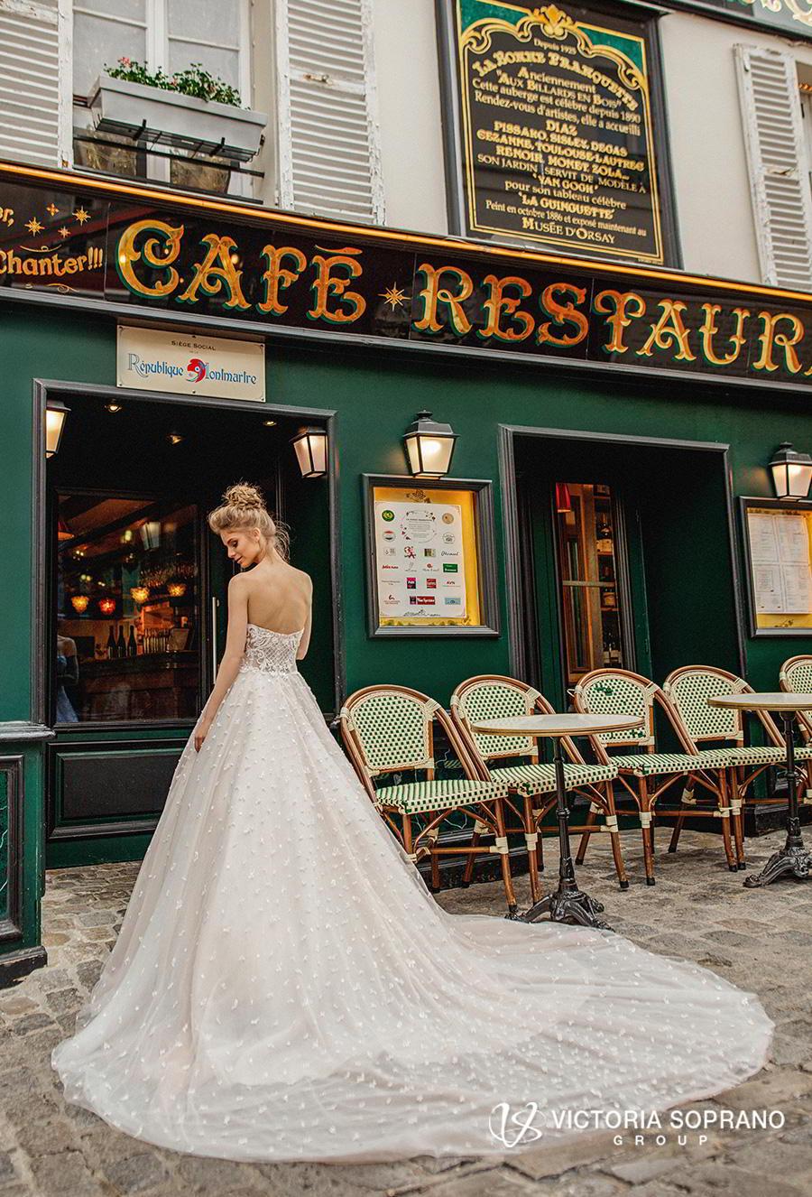victoria soprano 2019 bridal detachable ribbon straps sweetheart neckline full embellishment romantic a  line wedding dress chapel train (silaine) bv