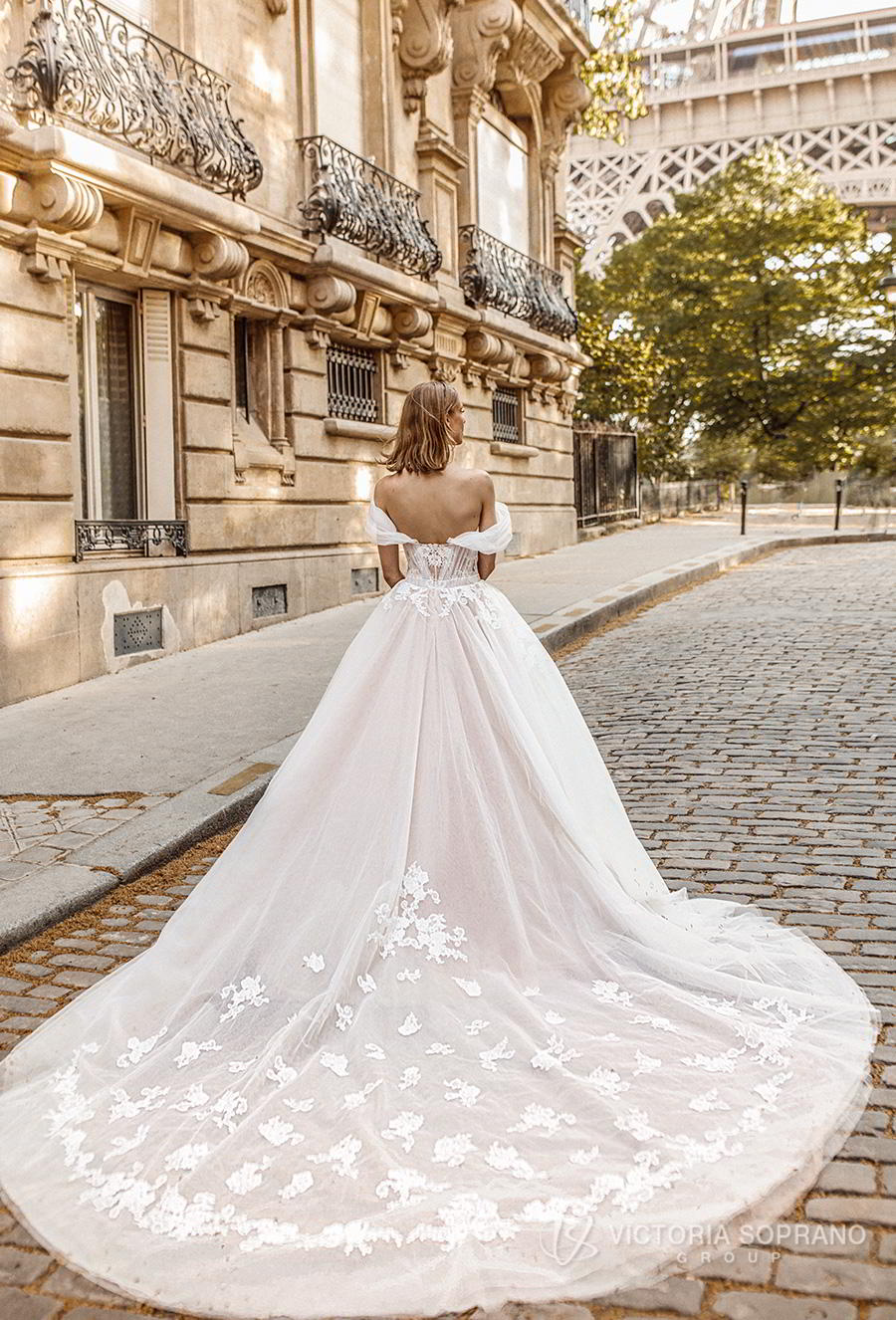 victoria soprano 2019 bridal off the shoulder sweetheart neckline heavily embellished bodice romantic princess a  line ball gown weddding dress royal train (manolo) bv