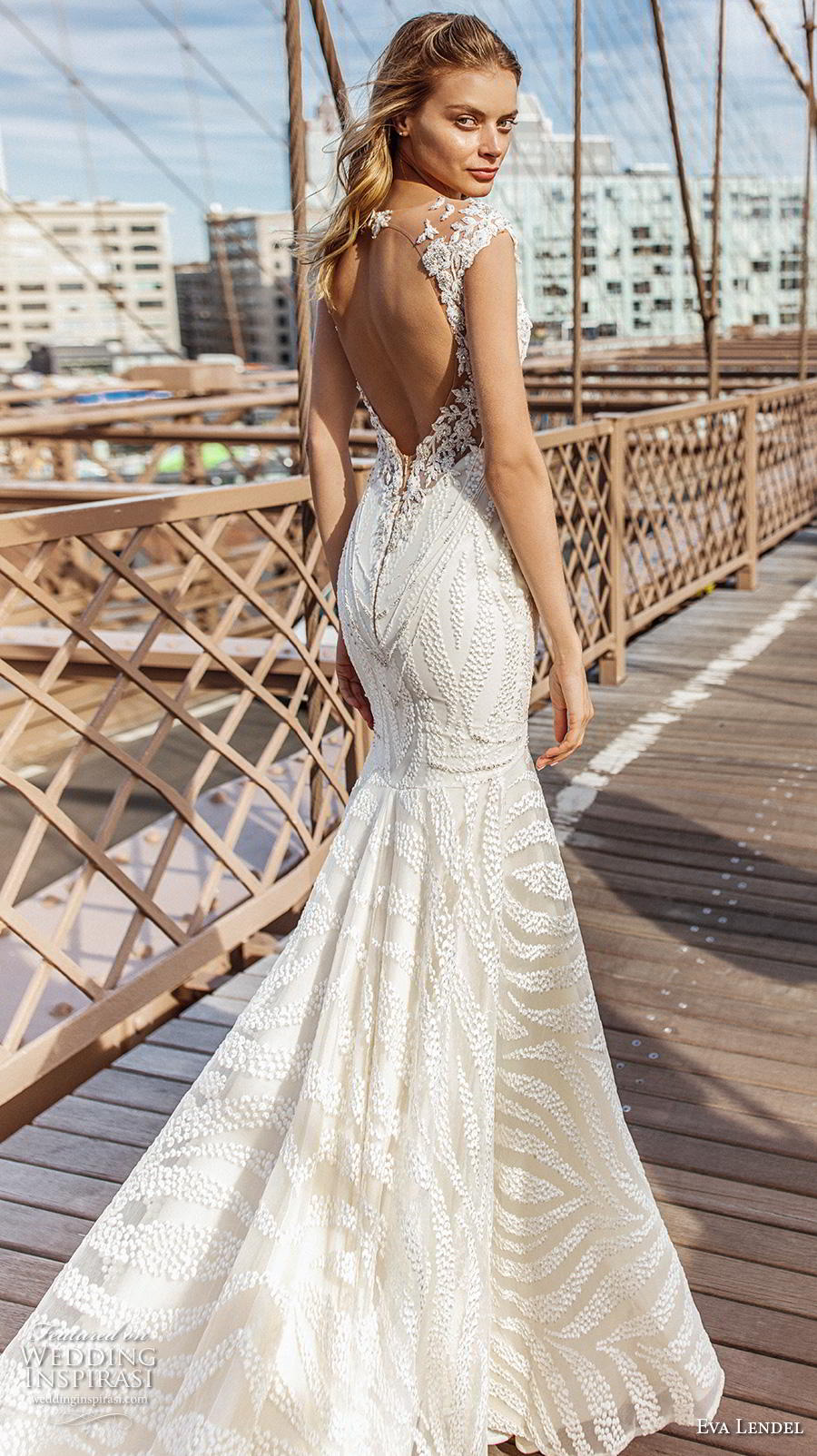 eva lendel 2019 bridal cap sleeves illusion bateau v neck full embellishment elegant trumpet wedding dress keyhole back chapel train (6) bv