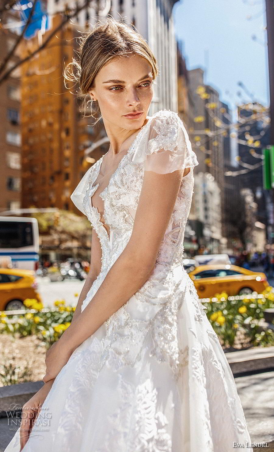 eva lendel 2019 bridal cap sleeves v neck full embellishment princess ball gown a  line wedding dress royal train (8) zv