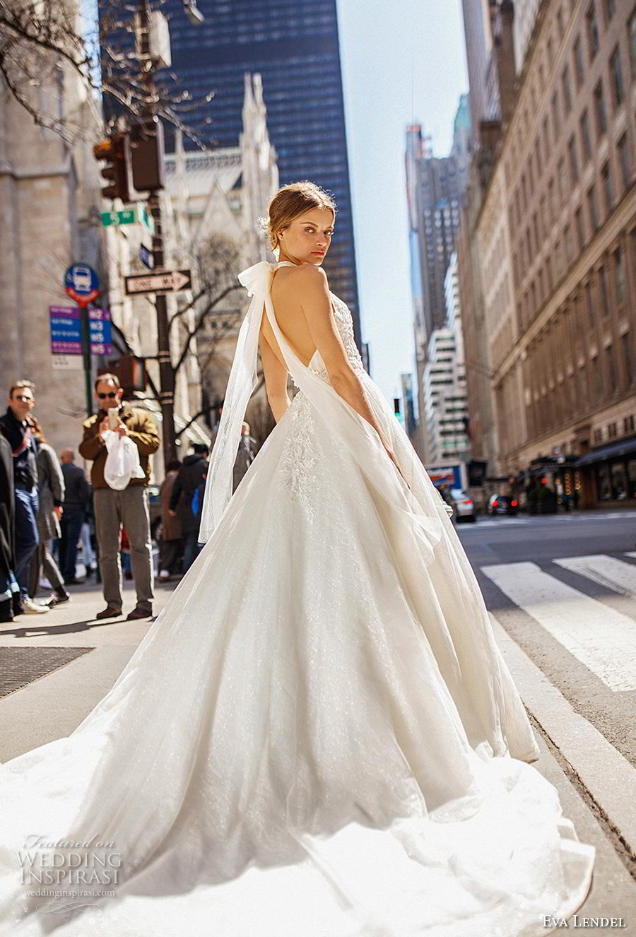 eva lendel 2019 bridal sleeveless halter neck deep v neck heavily embellished bodice romantic a  line wedding dress backless open back chapel train (12) bv