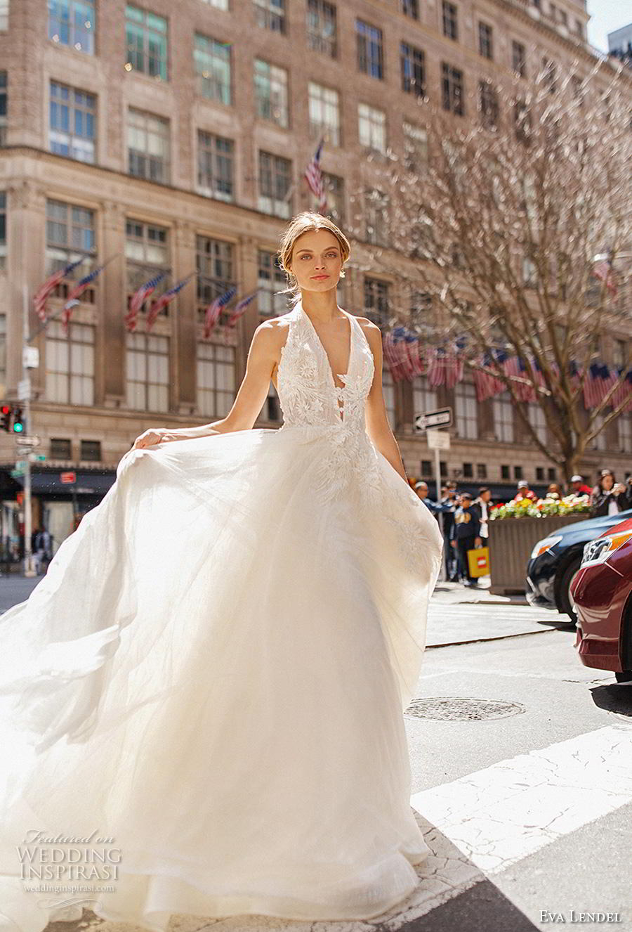 eva lendel 2019 bridal sleeveless halter neck deep v neck heavily embellished bodice romantic a  line wedding dress backless open back chapel train (12) mv