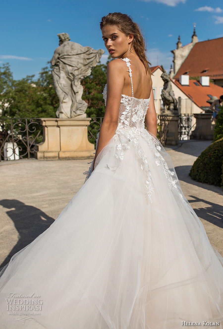 helena kolan 2019 bridal sleeveless thin strap sweetheart neckline bustier heavily embellished bodice romantic a  line wedding dress sweep train (14) zbv