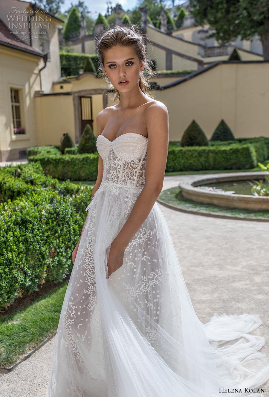 helena kolan 2019 bridal strapless sweetheart neckline full embellishment bustier romantic soft a  line wedding dress mid back chapel train (1) zv