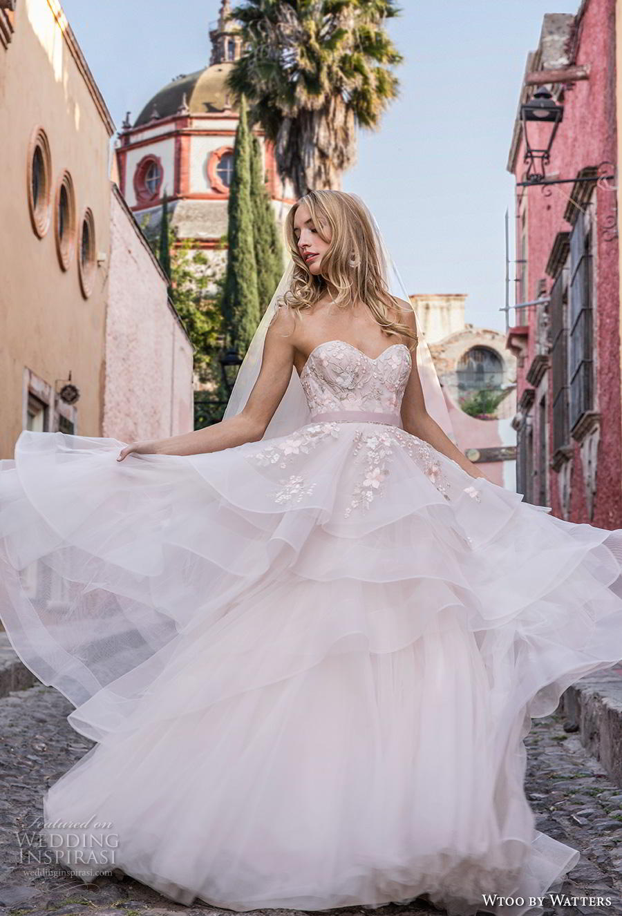8e5b7e2cf169c wtoo by watters fall 2018 bridal strapless sweetheart neckline heavily  embellished bodice layered skirt romantic a. ""