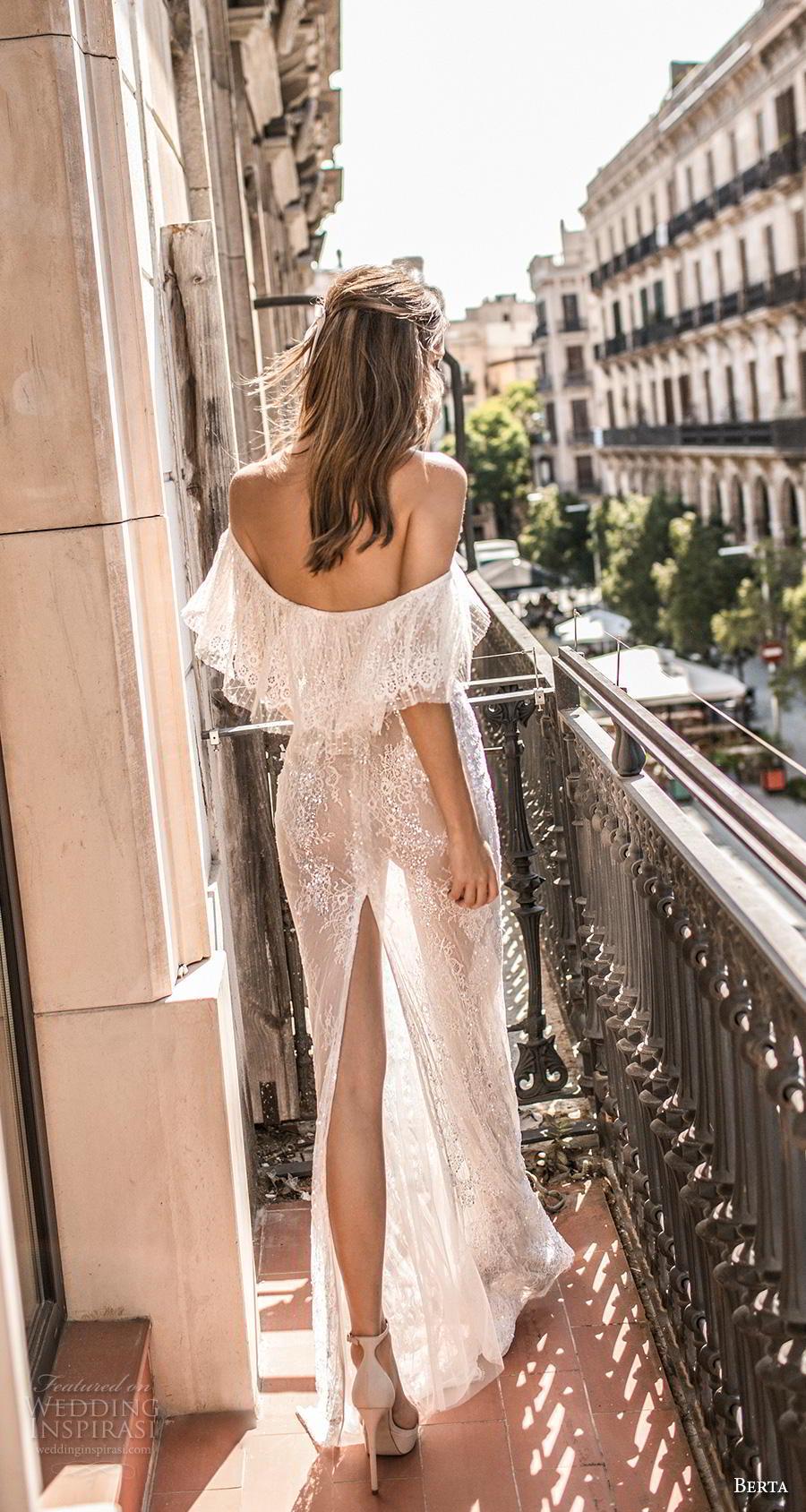 berta fall 2019 muse bridal off the shoulder v neck full embellishment bohemian elegant sheath wedding dress sweep train (16) bv