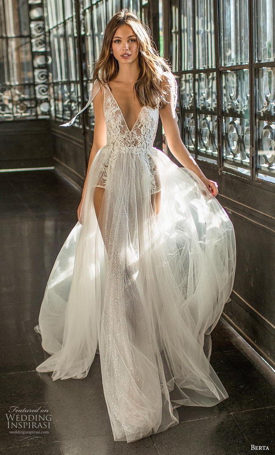 berta fall 2019 muse bridal sleeveless deep v neck full embellishment sexy bodysuit sexy soft a  line wedding dress backless chapel train (12) mv