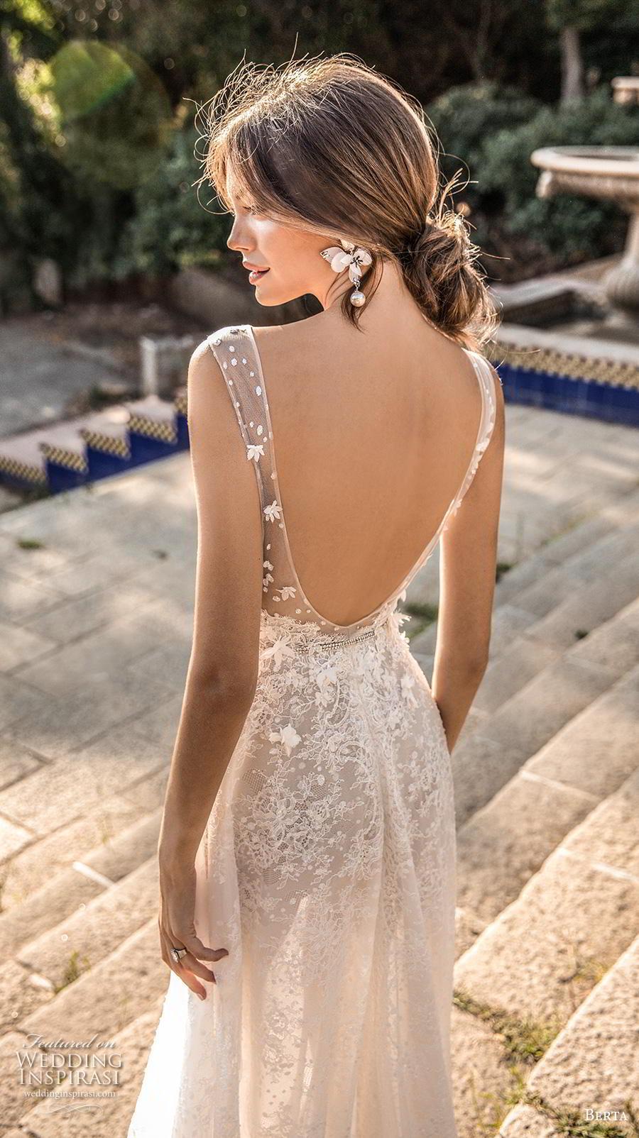 berta fall 2019 muse bridal sleeveless illusion bateau deep sweetheart neckline full embellishment elegant a  line wedding dress backless v back sweep train (14) zbv