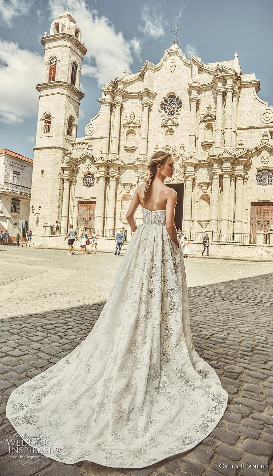 calla blanche fall 2018 bridal strapless straight across neckline full embellishment classic elegant ball gown a  line wedding dress chapel train (18) bv