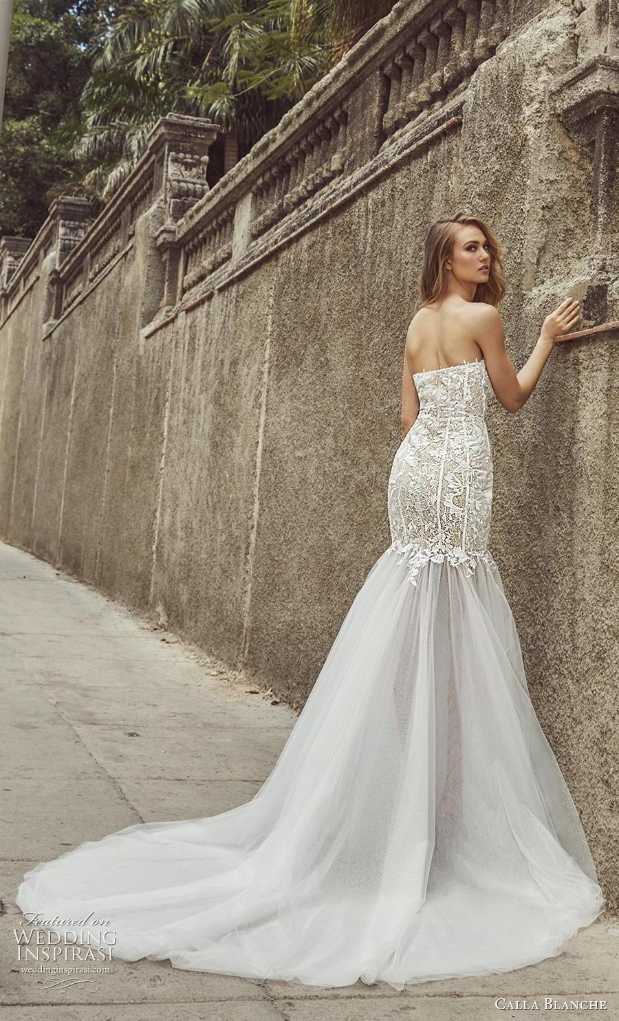 calla blanche fall 2018 bridal strapless sweetheart neckline heavily embellished bodice elegant mermaid wedding dress chapel train (5) bv