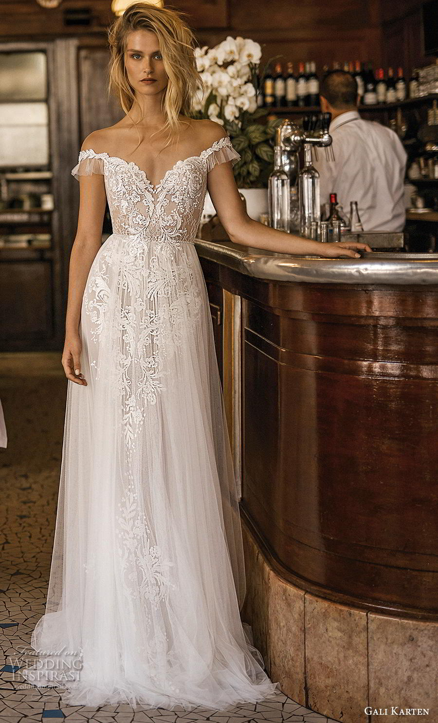 4a2cfbe065d gali karten 2019 bridal off the shoulder v neck full embellishment romantic  soft a line wedding